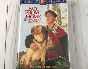 Far From Home VHS Tape (The Adventures of Yellow Dog) - Clam Shell Case - Animal Movie - Dog Adventure - Family Film - VCR Videos on Sale