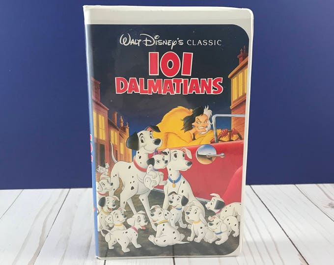 Walt Disney's 101 Dalmatians VHS Home Video - Animated Disney Movie - Clam Shell Case - Family Film - Dog Animal Adventure - Cruella DeVil