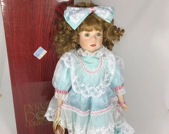 """Dynasty Doll Anna Collection """"Marcella""""  Fine China Porcelain Doll 