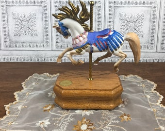 Willitts Limited Edition Music Box Carousel Horse - Merry Go Round Horse Figurine - Pony Nursery Decor - Baby Shower Gift- Gift For Her