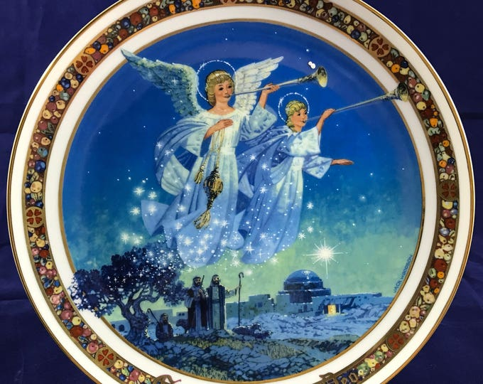 """Royal Windsor Angels """"Gloria in Excelsis Deo"""" Collector Plate - Limited - Christmas Carol Collection - Jack Woodson - US Historical Society"""