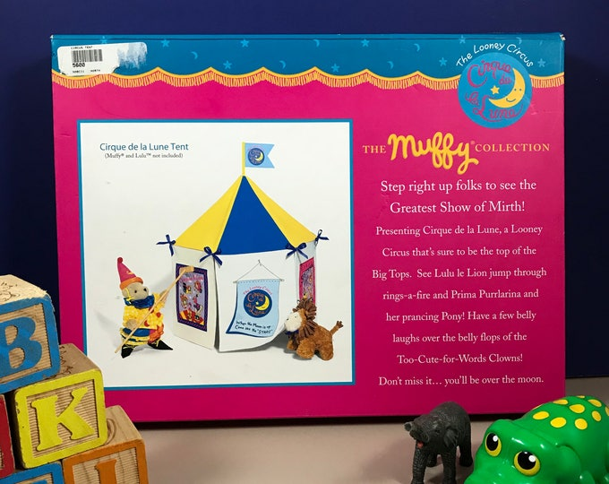 Looney Circus Puppet Theater - Muffy VanderBear - Cirque de la Lune Tent - North American Bear Company - Stage - Pretend Play - Kid's Gift