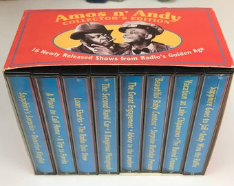 Amos N' Andy Cassette Tape Box Set - 1995 Collector's Edition 16 Shows / 8 Tapes from Radio's Golden Age - 1930's Radio Show - Comedy Tapes