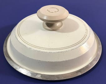 """Club Supra Replacement Lid - 7"""" Club Aluminum Pan Small Lid - Almond / Off-White - Cast Aluminum - LID ONLY - Pot Top Cover - Club Cookware"""