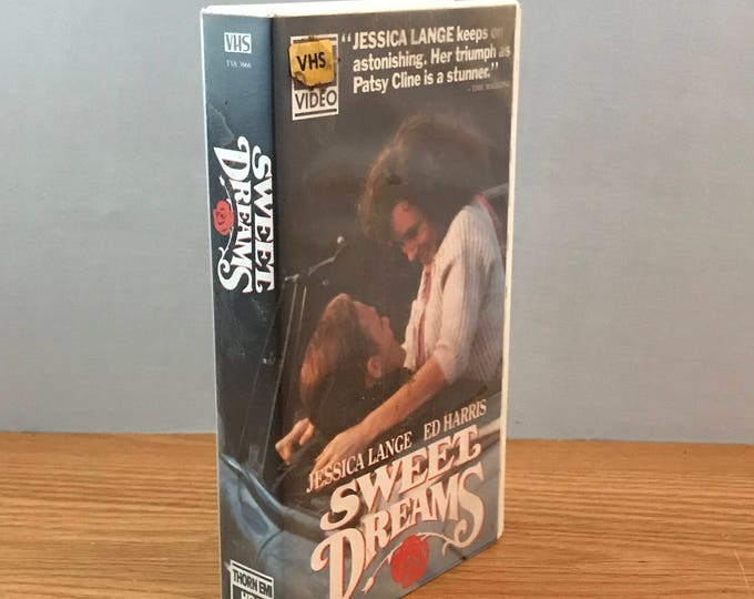 Sweet Dreams The Patsy Cline Story Video - 1985 Extremely RARE Thorn Emi HBO VHS Movie - Jessica Lang & Ed Harris - Country Music Film - Htf