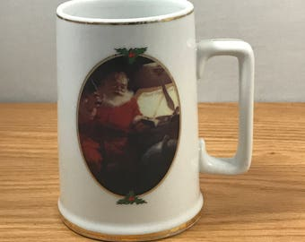 "Coca-Cola Christmas Mug - ""Good Boys and Girls"" 1996 Collectors Edition Santa Claus Cup - Haddon Sundblom - Coke Advertising - Coca Cola"
