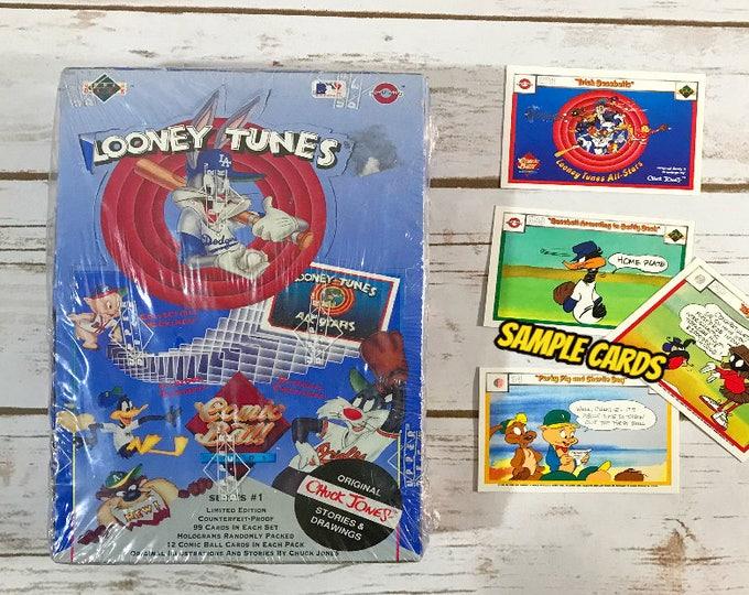 Looney Tunes Baseball Trading Cards - 1990 Comic Ball 36 Decks - Full Sealed New Box - Upper Deck - Series #1 Limited Edition - Chuck Jones