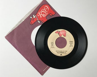 "Paul Nicholas Heaven On The 7th Floor / Do You Want My Love 45 RPM Vinyl Record - 1970's 7"" Jukebox Single -1977 RSO - 70's Euro Pop Music"