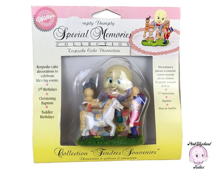 Humpty Dumpty Cake Topper by Wilton Special Memories Collection Keepsake Mother Goose Cake Decoration for Birthday, Baby Shower, Baptism