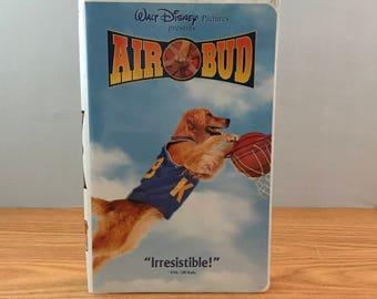 Disney's Air Bud VHS - VCR Movie in Clamshell Case - Golden Retriever Dog Movie - Walt Disney Film - Kid's Movie -  Children's Film -Puppies