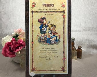 1970's Hummel Virgo Wall Plaque - Vintage Zodiac Wall Hanging - Virgo Sign - Retro Gift for Virgos - Astrology Home Decor - New Old Stock