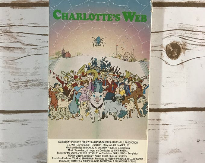 Charlotte's Web VHS Video - Classic Animated Movie - Wilbur the Pig - 1972 - Family Film - Childhood Nostalgia - Cartoon Movies - VCR Tape