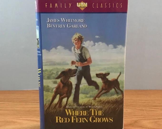 Where The Red Fern Grow VHS Movie - Based on Wilson Rawls Book - Animal Theme Movie - Coon Hounds Film - UAV Gold Classic - Clamshell Case