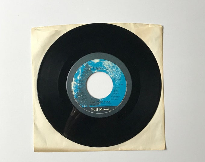 "Chicago Hard To Say I'm Sorry / Sonny Think Twice 45 RPM Vinyl Record - 1980's 7"" Jukebox Single -1982 Warner Bros. Records - 80's Pop Rock"