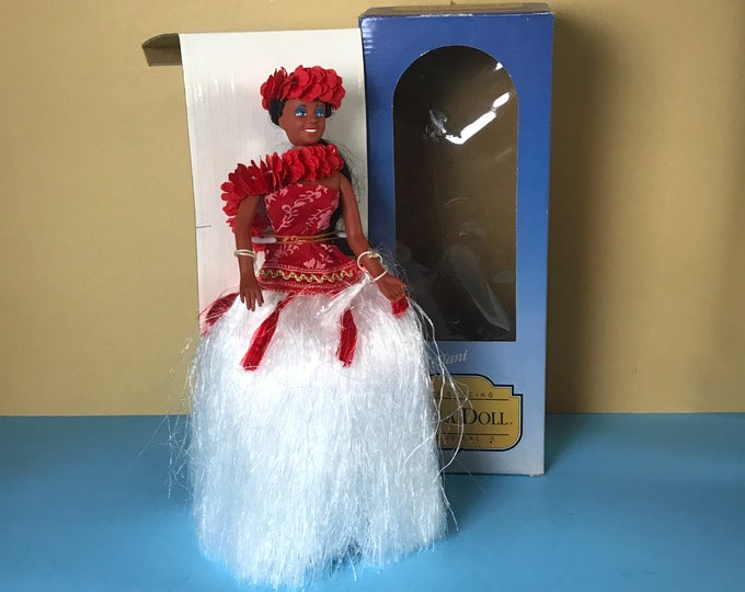"Sweet Leilani The Dancing Musical Hula Doll 1984 Vintage/New NOS - Retro 80's 12"" Vinyl Hula Girl Music Box Doll - Hawaiian Figurine Dolls"