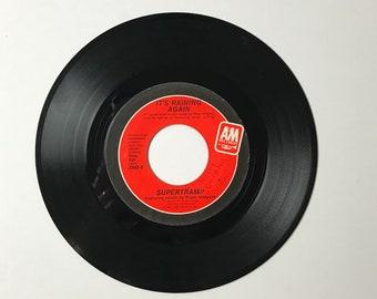 "Supertramp It's Raining Again / Bonnie  45 RPM Vinyl Record - 1980's 7"" Jukebox Single -1982 AM Records - 80's Pop Rock Music Record"