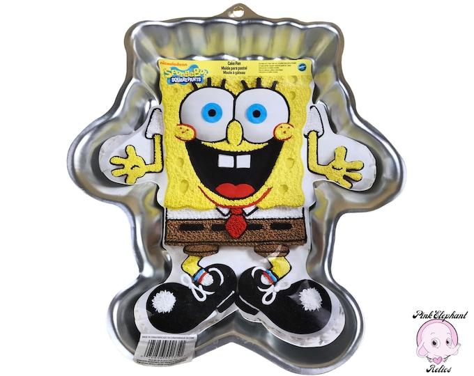 "Spongebob Squarepants Cake Pan by Wilton No. 2105-5135 - 12"" SpongeBob Molded Cake Pan - Wiltons Cake Baking Supplies - Aluminum Cake Pans"