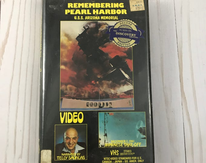 Remembering Pearl Harbor VHS Video & Case - U.S.S. Arizona Memorial - Documentary - Telly Savalas - Panorama International - History Movie