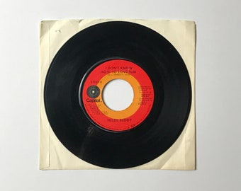 "Helen Reddy I Don't Know How To Love Him ( from Jesus Christ Superstar) / I Believe In Music 45 RPM Vinyl Record - 1970's 7"" Jukebox Single"
