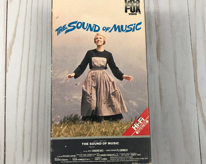 The Sound of Music VHS 2 Tape Set - Vintage 1986 CBS Fox Video - Julie Andrews - Musicals - Family Movies - Classic Films - Videos on Sale