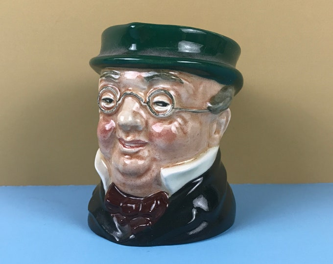 Royal Doulton Mr. Pickwick Character Creamer Mug - Vintage English Toby Jug - Kitschy Mini Cream Pitcher That Looks Like Mitch McConnell