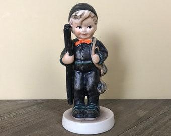 "Vintage Goebel Hummel ""Chimney Sweep"" Adorable Little German Boy 4"" Figurine TMK-3 Mark - 1960's Kitschy Curio Fireplace Mantel Decorations"