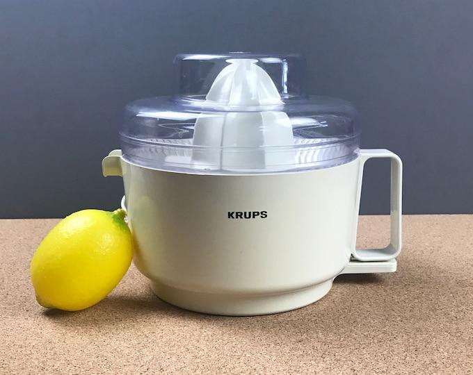 White Krups Electric Citrus Fruit Juicer Pressa C Type 252 - Push Power Juice Press for Oranges, Grapefruit, Lemons, Limes - Kitchen Juicers