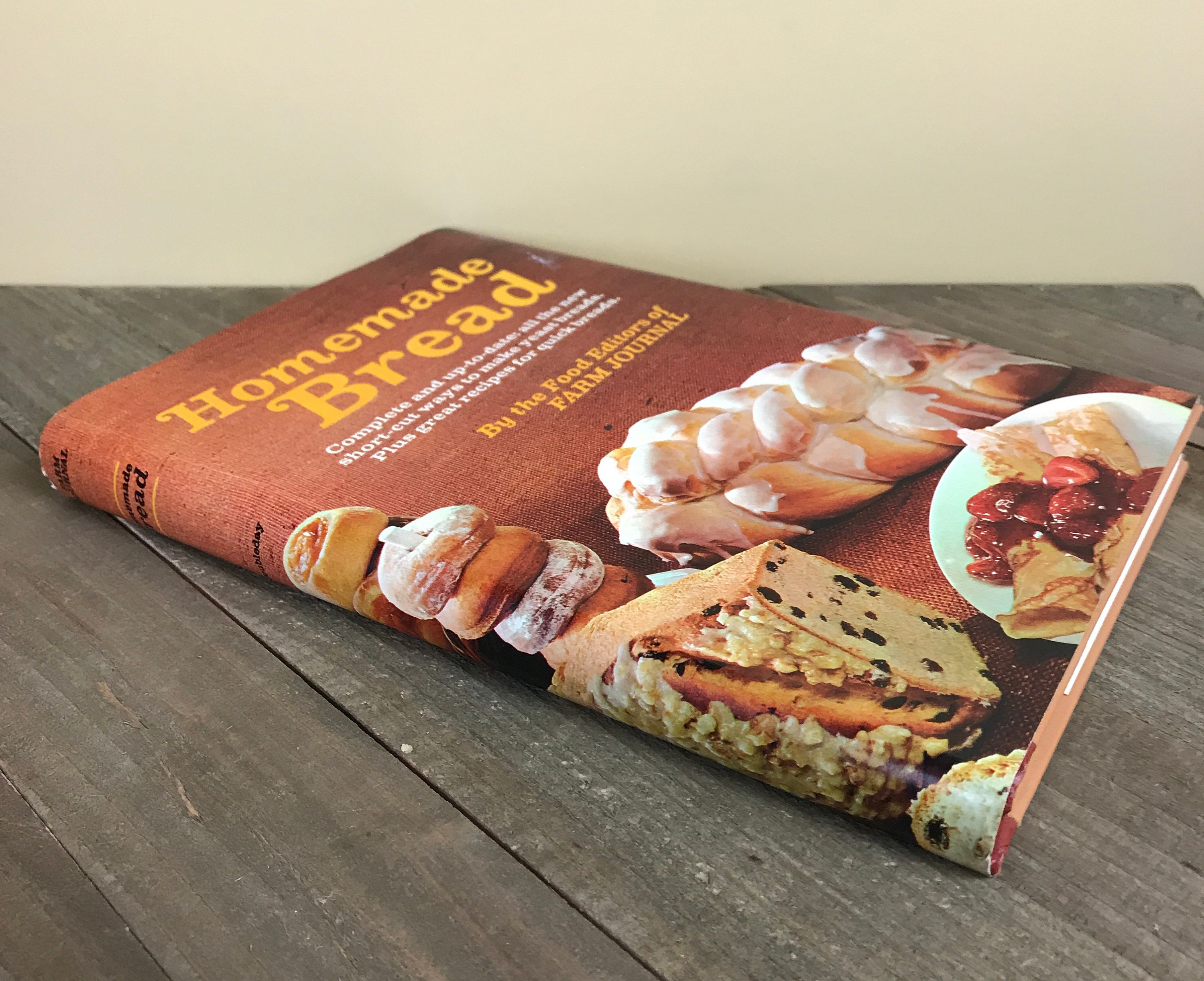 1969 Cookbook Homemade Bread Recipe Book By the Food ...