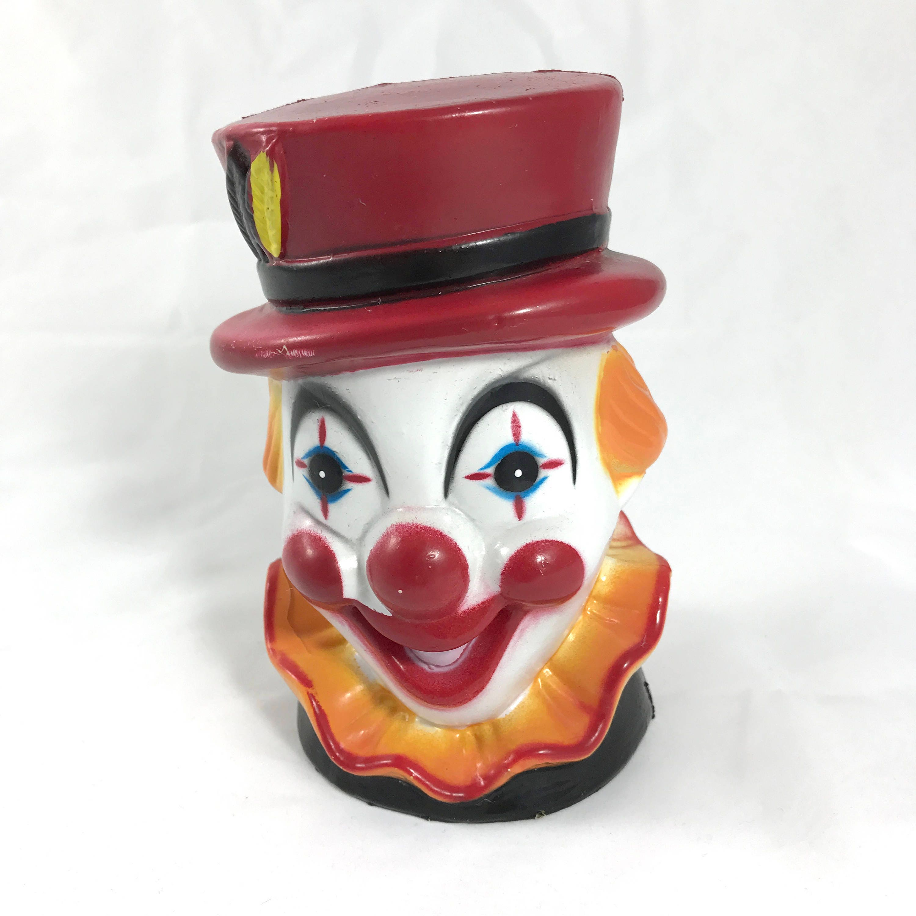 Vintage Creepy Clown Bank - Scary Plastic Circus Themed ...