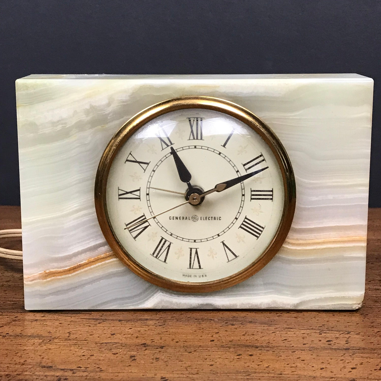 Vintage GE Marble Alarm Clock