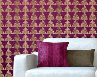 "Removable Decal Wallpaper Decal Art Deco 22"" x 44"" Seamless Continuous Design ~ Item 433"