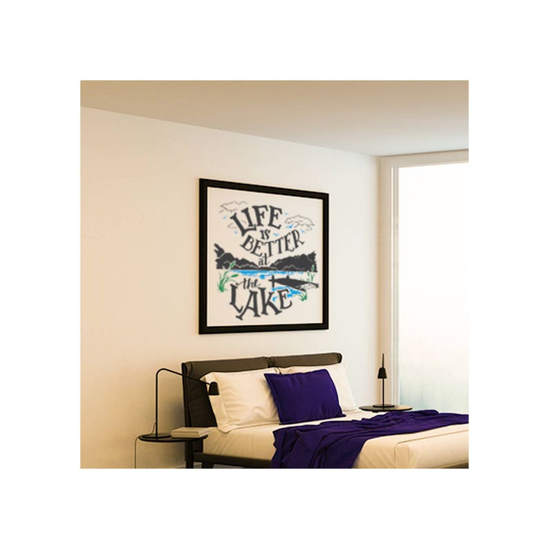 Life Is Better at the Lake Saying Wall Decal ~ Item 0452