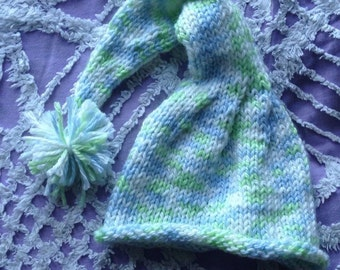 Knitted Baby Elf Gnome Hat