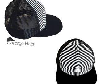 90489042 Toddler & Kids Trucker Hat / Baby Trucker Hat / Kids Snapback / STRIPE