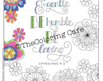 Coloring CafeR Pages Download Set Of 4 Bible Scripture Verses Printable