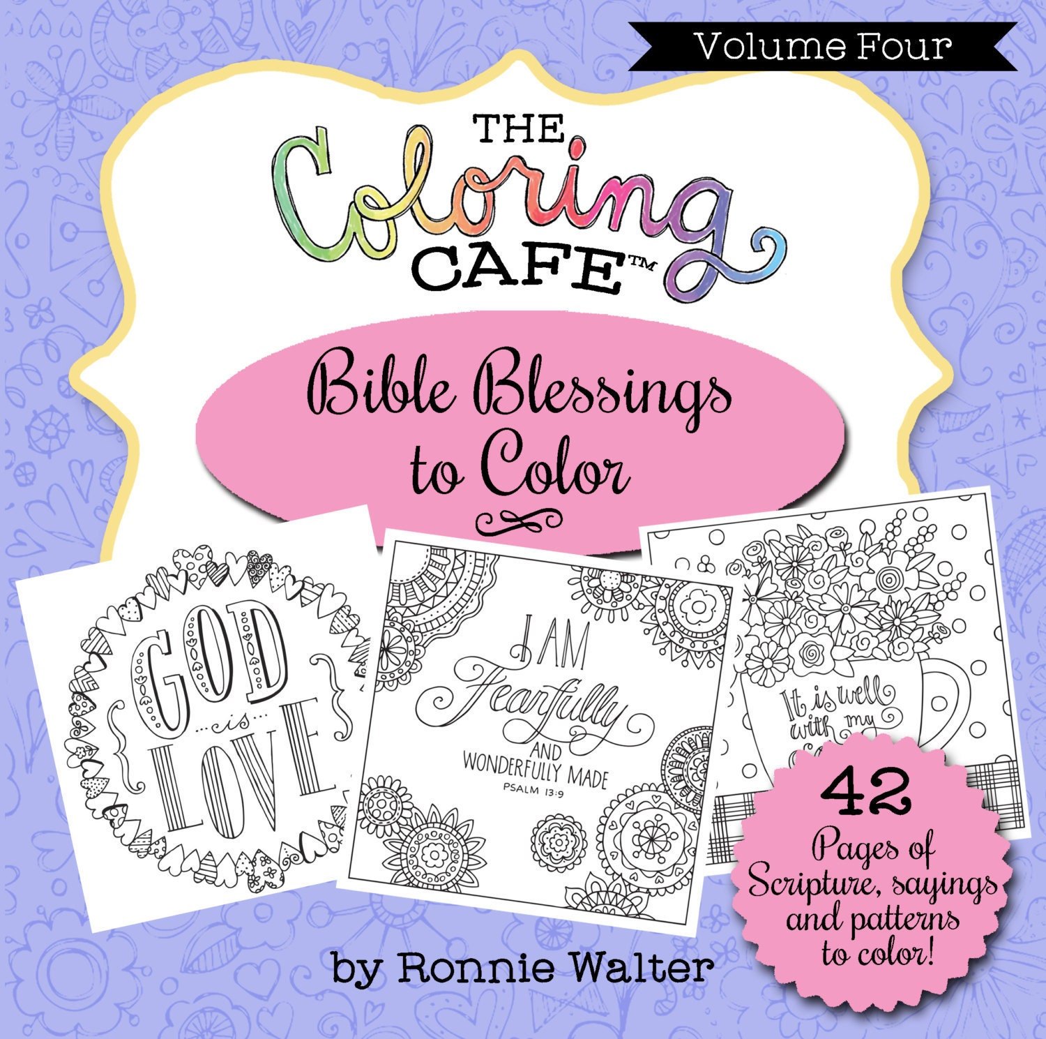 The Coloring CafeTM Bible Blessings To Color Scripture