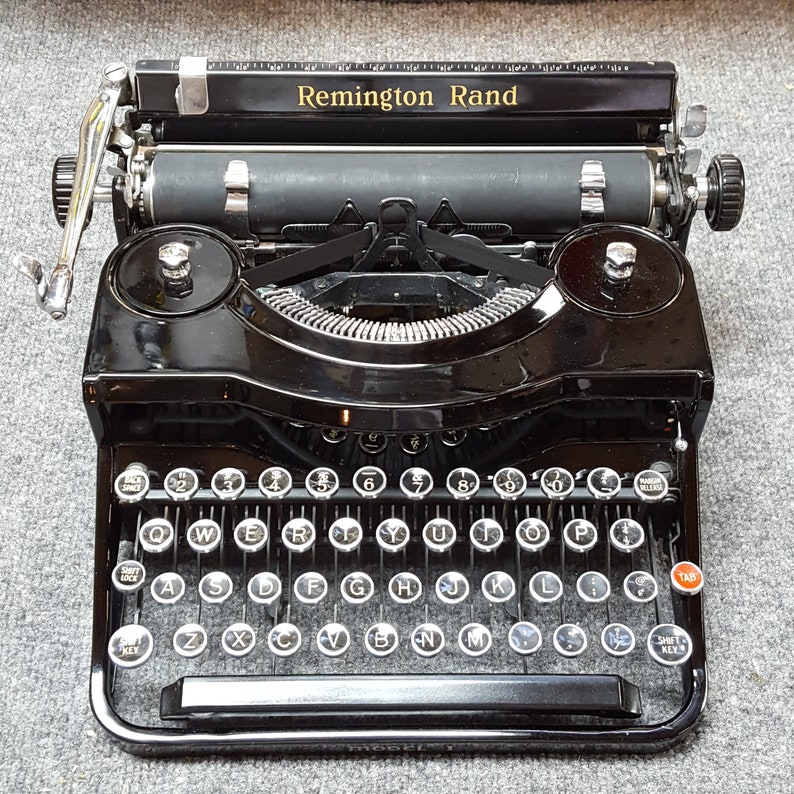 FREE SHIPPING 1937 Remington Rand Model 1 Portable Typewriter image 0