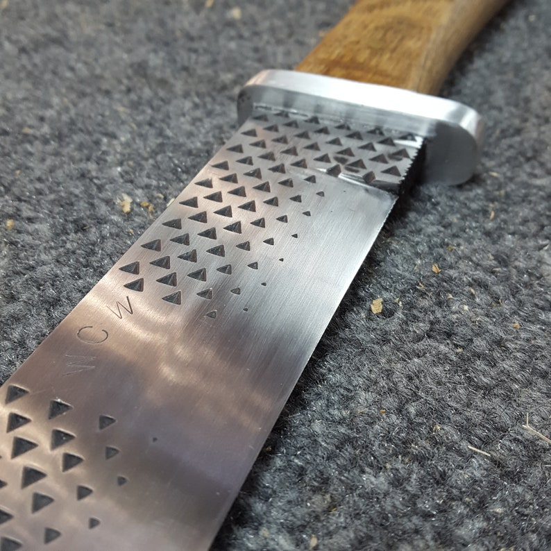 Handmade Forged High Carbon Steel File Farriers Rasp Machete image 0
