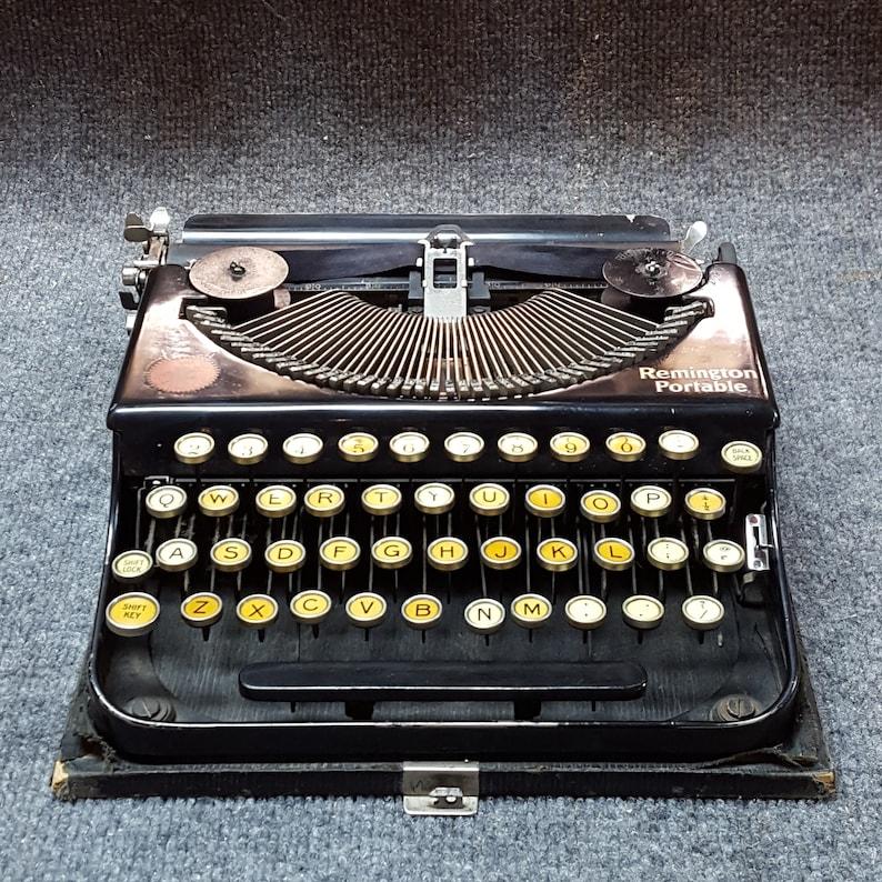 FREE SHIPPING 1920 Remington Portable Typewriter Working image 0