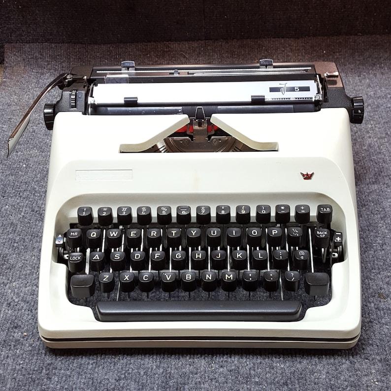 FREE SHIPPING 1977 Adler J5 Portable Typewriter image 0