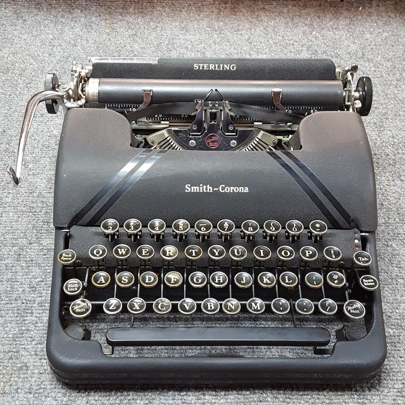 FREE SHIPPING 1945 Corona Sterling Typewriter Good Working image 0
