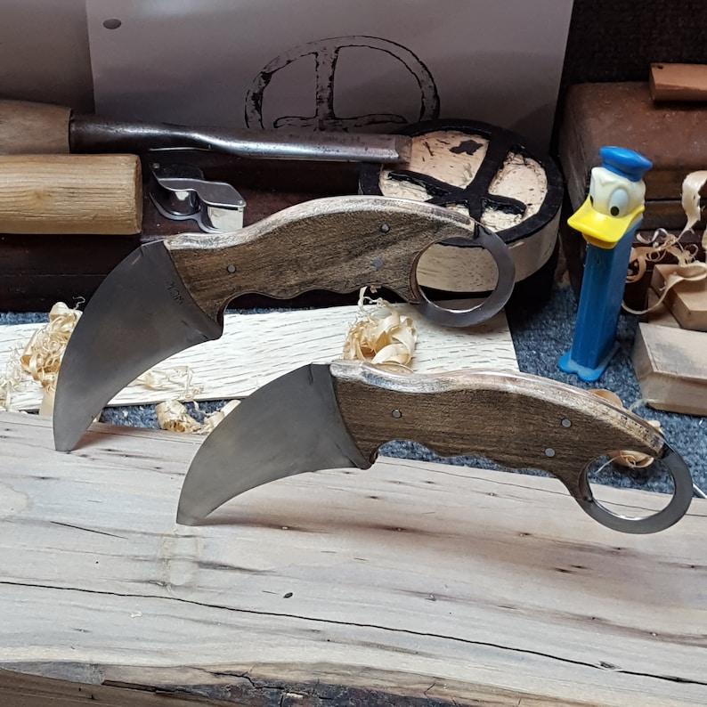 Matching Pair Karambit Handmade High Carbon Steel image 0