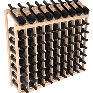 Handmade Wooden Standard Waterfall Display Wine Shelf Rack Display in Premium Redwood 13 Stain Combinations to Choose From!