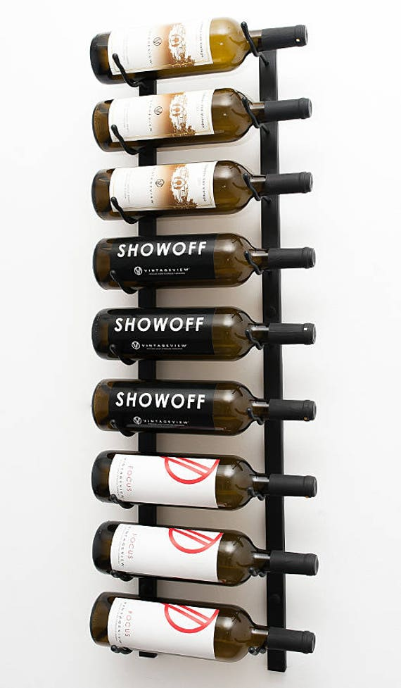 Vintageview Ws31 9 Bottle Wall Mounting Metal Wine Rack 3 Available Finishes