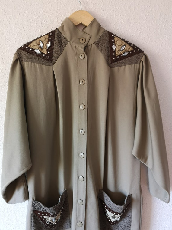 Bejewelled Batwing Coat