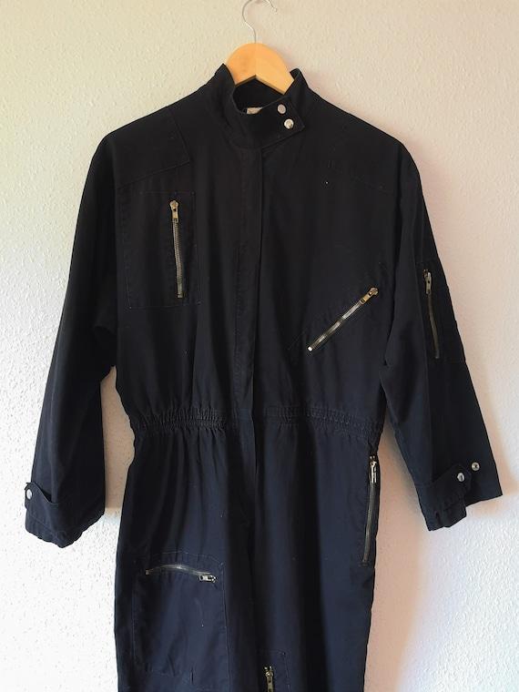 Retro Black Jumpsuit