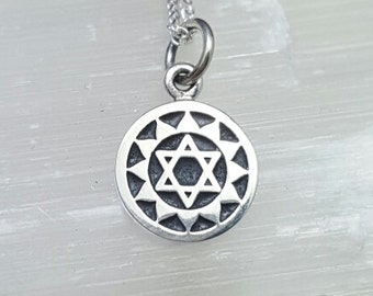 Heart Chakra necklace. Anahata chakra necklace. Heart Chakra Anahata pendant. Chakra necklace. Chakra jewelry. Yoga necklace. Yoga gift