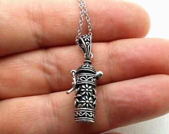 Stash necklace - Sterling silver secret stash necklace - prayer box - poison necklace - sterling silver ashes necklace - secret necklace