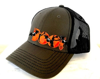 5caa9c62a80 Hat women s trucker hat with repurpose jewelry butterfly