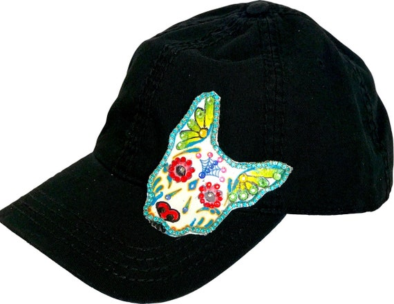 Dog Hat Dog Lover Hat Sugar Skull Gifts Mom Dog Gift  433e102bcace